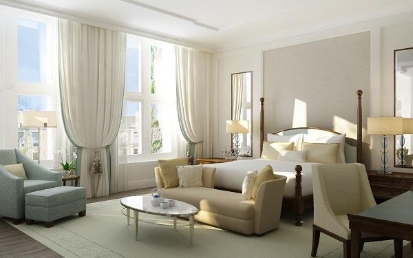 Glamourland Waldorf Astoria Brentano Suite Bedroom