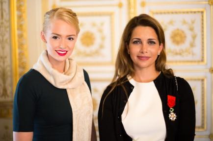 Erieke Kuitert en prinses Haya van Jordanië