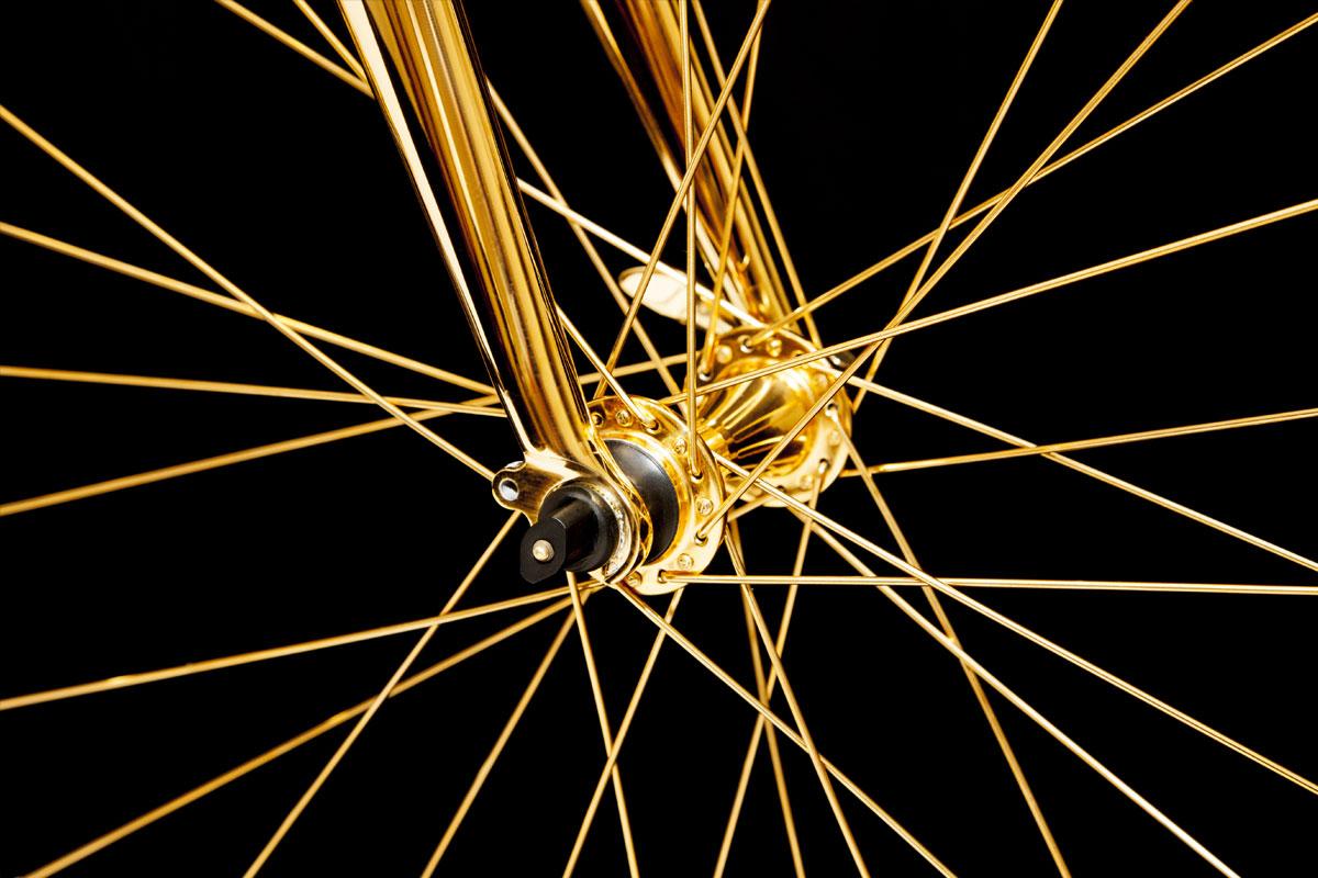 Glamourland gouden fiets