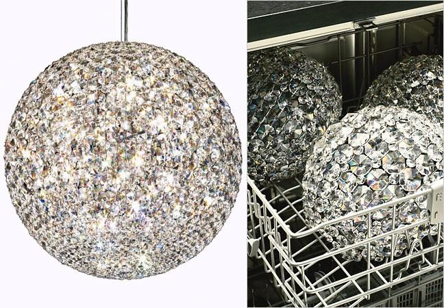 Glamourland kroonluchter afwasmachine