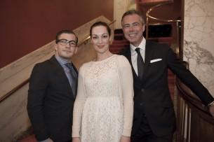 Freddy's Chairman François-Léon Van der Velden, Miryanna van Reeden en Menno Born