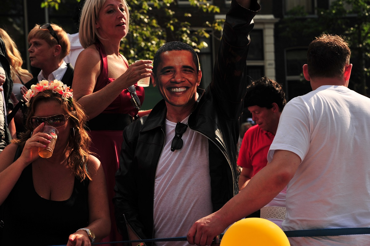 Obama Gay Pride Glamourland