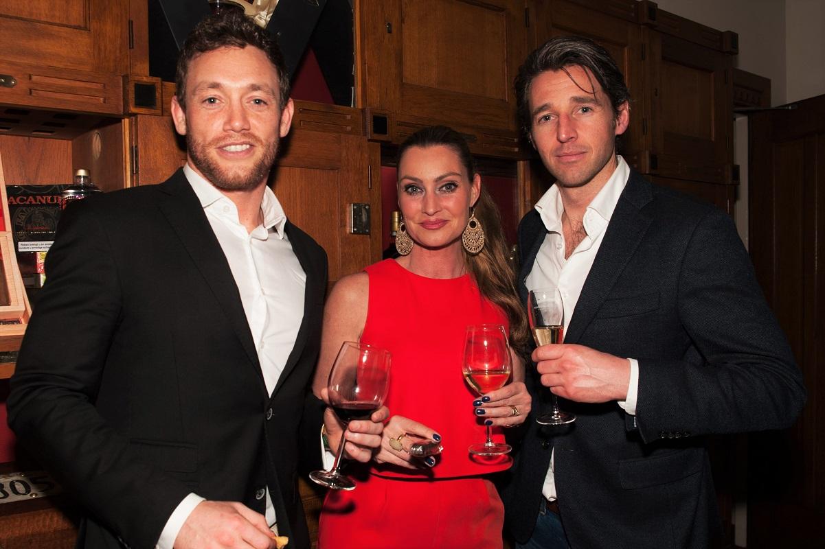 Roeslan Danoekoesoemo (Global Sponsorship manager Heineken), Anne-Marie van Leggelo (eigenaresse Etiquettebureau), Patrick Verhulst