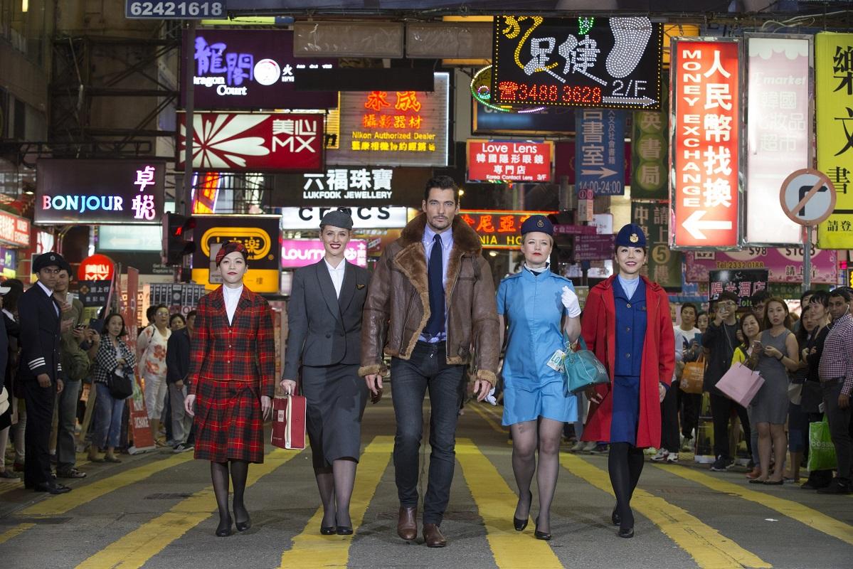 David Gandy British Airways 80th Hong Kong celebrations