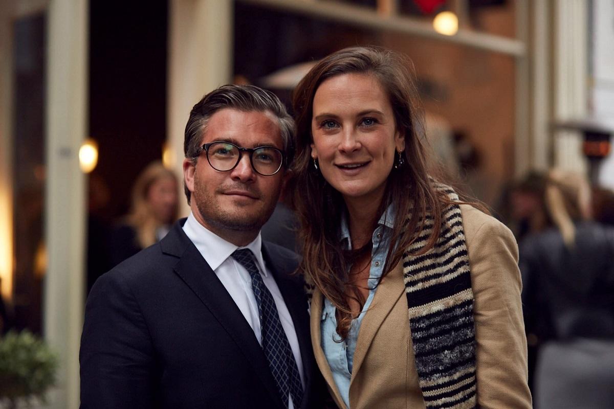 François-Léon Van der Velden (CEO Dutch Global Media) en Sonia Festetics de Tolna (Brands&Branding) - Foto Stefan Marcel Gerard
