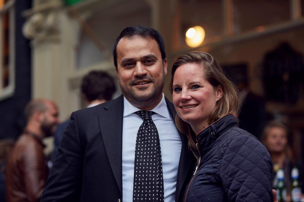 Hossein Akef (eigenaar Persian Caviar) en Julie Van de Poll - Foto Stefan Marcel Gerard