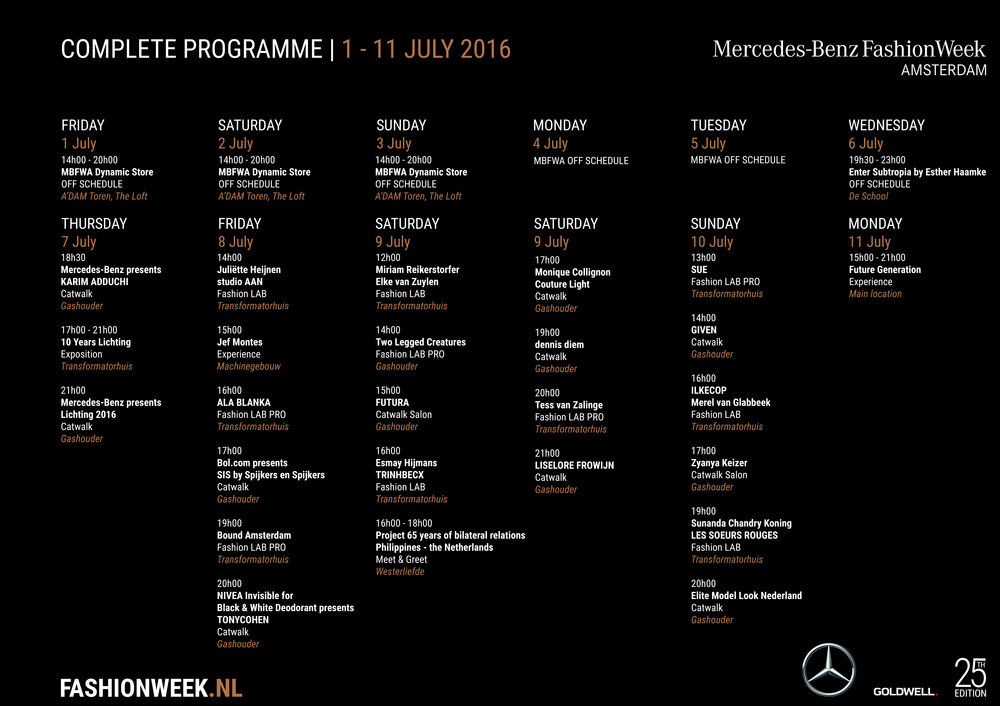Programma Fashion Week