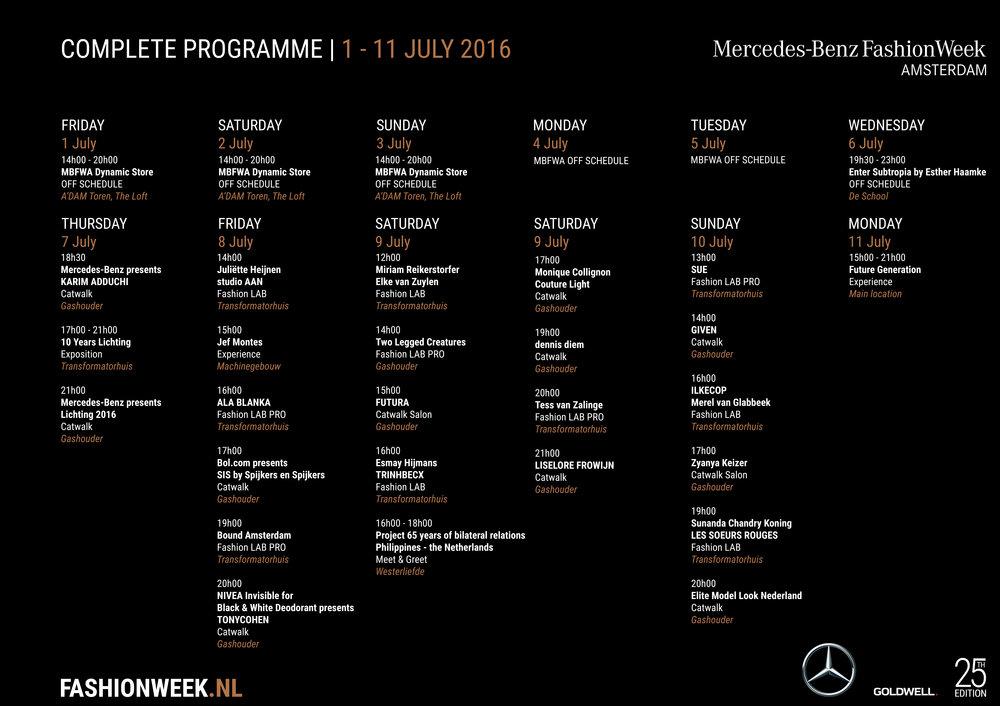 Programma Fashion Week