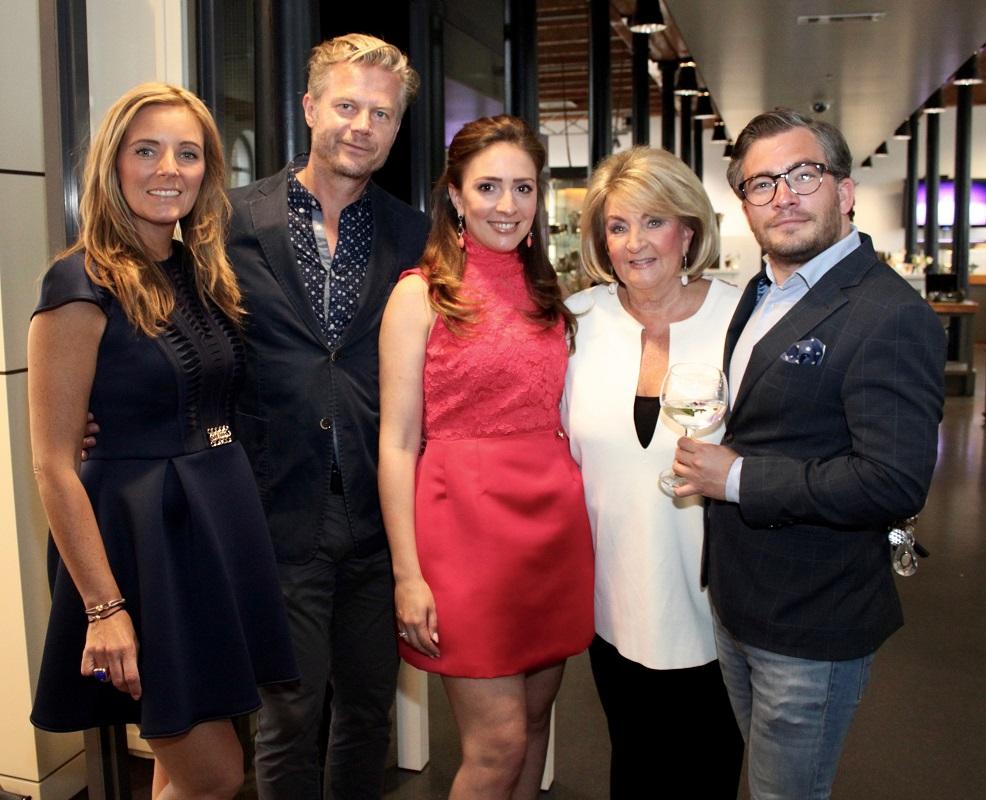 Gytha Leeser, Marc Kooiman, Deobra Leeser, Kitty Leeser en François-Léon Van der Velden