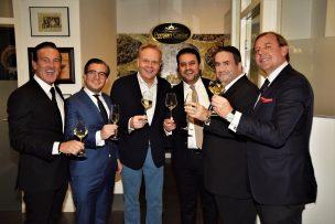 persian-caviar-ambassadeurs-ron-vermeulen-francois-leon-van-der-velden-frits-huffnagel-hossein-akef-eigenaar-persian-caviar-marc-van-der-linden-en-tom-kellerhuis