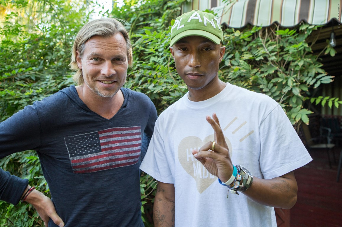 Pharrell WIlliams and Ludovic du Plessis Glamourland