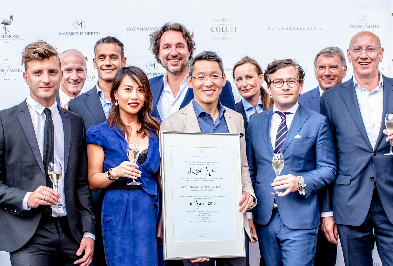 Massimo Mioretti Zakenman van het Jaar - Dutch Global Media - winnaar Lasé Hu en organisatie